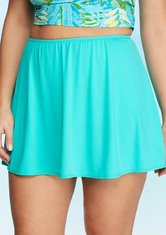 Kim Rogers® Plus Size Solid Skirted Bottom