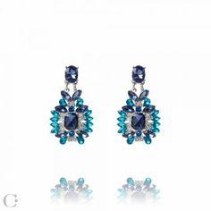 Bijuterii Statement :: Cercei Statement Statement Earrings, Stud Earrings, Sapphire, Jewelry Accessories, Beauty, Beleza, Earrings, Stud Earring, Cosmetology