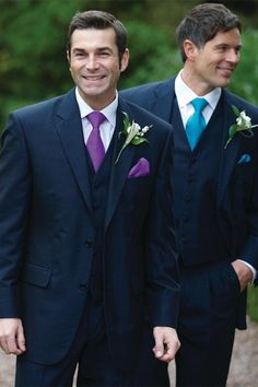 navy blue suit purple tie - Google Search