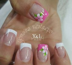 Here are some hot nail art designs that you will definitely love and you can make your own. You'll be in love with your nails on a daily basis. Fingernail Designs, Toe Nail Designs, Nail Polish Designs, Nails Design, Toe Nail Art, Toe Nails, Fancy Nails, Pretty Nails, Flower Nail Art
