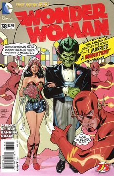 Cover for Wonder Woman (DC, 2011 series) #38 [Flash 75th Anniversary Cover]