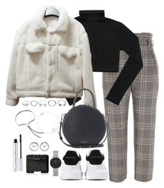 """""""Untitled #5303"""" by theeuropeancloset ❤ liked on Polyvore featuring River Island, Mansur Gavriel, Alexander McQueen, GUESS, Monica Vinader, Daniel Wellington, NARS Cosmetics, 100% Pure and Alexander Wang"""