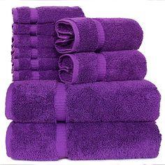 Purple Love, All Things Purple, Shades Of Purple, Purple Stuff, Neon Purple, Spa Towels, Cotton Towels, 2017 Fall Fashion Trends, Purple Fascinator