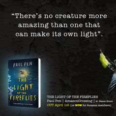 THE LIGHT OF THE FIREFLIES, available at Amazon: http://amzn.com/B016A31ZWC