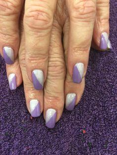 Two toned nails. Gel polish