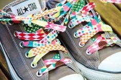 Schuhbänder nähen ... sew your shoelaces
