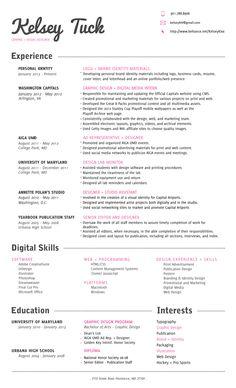 resume template simple resume professional resume