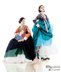 Hanbok, korean traditional clothes / My wedding / 가을 정취를 담은 한복 / 바이단