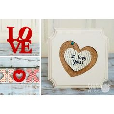 Now That's a Love Letter - Naked Wood Letters and Frame