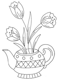 flowers 43 | Flickr - Photo Sharing! Use as a digi stamp for teabag holder card
