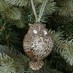 Buy John Lewis Enchantment Owl Tree Hanger, Silver Online at johnlewis.com
