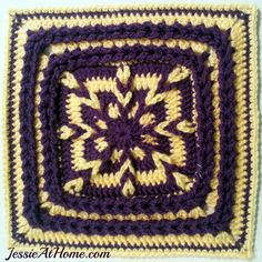 EDITOR'S CHOICE (03/12/2015) Tamara's Kismet Square by JessieAtHome View details here: http://crochet.community/creations/2830-tamara-s-kismet-square