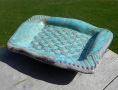 Ocean Blue WoodFired Turquoise Soap Dish III by splitfirepottery, $18.00
