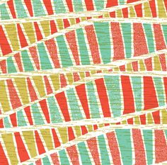 What I like about this pattern is it's shapes inside of shapes. I also love how the colors are muted but bright at the same time.