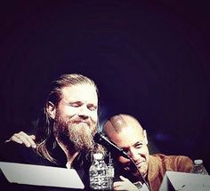 Ryan Hurst (Opie) and Theo Rossi (Juice). This is THE cutest picture I have ever seen. These two are so adorable!!!