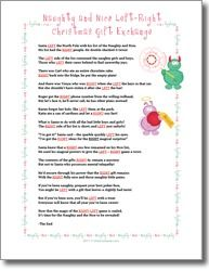 Printable Left/Right Christmas Game Poem | christmas | Pinterest ...