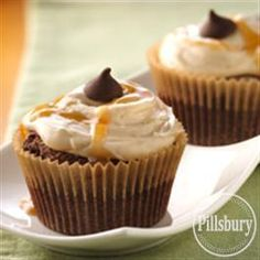 Spiced Chocolate Cupcakes with Caramel Buttercream from Pillsbury® Baking