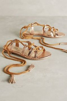 Shop the latest sandals at Anthropologie from new slide sandals to lace up sandals and more. Strappy Flats, Lace Up Sandals, Shoes Sandals, Heels, Heeled Boots, Shoe Boots, Anthropologie, Urban Chic Fashion, Shoe Closet