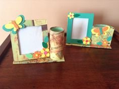 Foam sheet art picture frame with pen holder - Check link for more hand crafted products https://www.facebook.com/LaArtesano