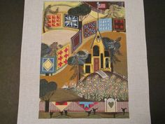 Ewe & Eye: 300 Quilts - Canvas w/st guide - Hand Painted Needlepoint Canvas