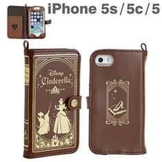 New Cinderella Old book iPhone 5 5S 5C Leather Case Disney From Japan☆ - Ack this is so GORGEOUS! I need dis - but for a Samsung :(