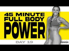 45 Minute Full Body POWER Workout | POWER Program - Day 19 - YouTube 45 Minute Workout, 21 Day Fix Workouts, Flat Abs Workout, Ab Workout At Home, Walking Exercise, Hiit, Cardio, Weight Training, Workout Videos