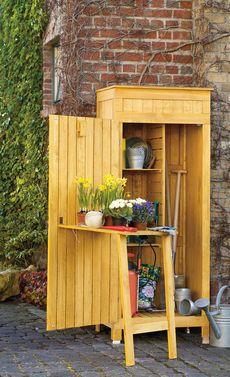 Gartenschrank mit Regalaufsatz, Gerätehaus Geräteschuppen ...