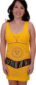 Star Wars C-3PO Costume Dress, but I would wear this with leggings!!