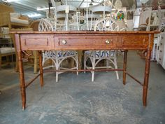 Faux Bamboo Thomasville Desk