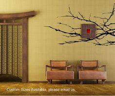 Amazoncom Stickerbrand Nature Vinyl Wall Art Tree Top Branches - Vinyl stickers treeamazoncom stickebrand vinyl wall decal sticker tree top branches