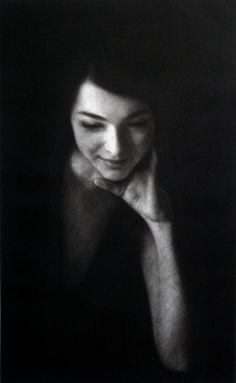 Eve Delf  a Mezzotint by Marina Kim - A beautiful mezzotint, I love this work. S