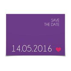 Save the Date Klares Ja in Violett - Postkarte flach #Hochzeit #Hochzeitskarten #SaveTheDate #modern #Typo https://www.goldbek.de/hochzeit/hochzeitskarten/save-the-date/save-the-date-klares-ja?color=violett&design=a5a15&utm_campaign=autoproducts
