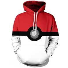 Womens Pokemon 3D Printed Pullover Hoodie Red (93 BRL) ❤ liked on Polyvore featuring tops, hoodies, jackets, sweaters, pokemon, sweatshirts, red, red hoodies, pullover hoodies and hooded pullover