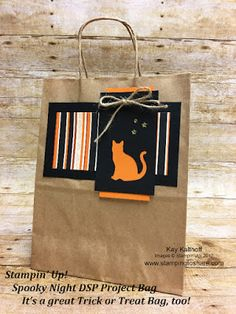 Stampin\' Up! Spooky Night Project Bag. It\'s a great Trick or Treat bag, too! #stampingtoshare Fall Flair 2017.