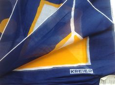 KREIER of Switzerland - pure 100% cotton Nautical Scarf - Vintage, Unused and Perfect by JohnTjadenScarves on Etsy