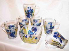 Чаши - ръчно рисувано стъкло с витражни бои