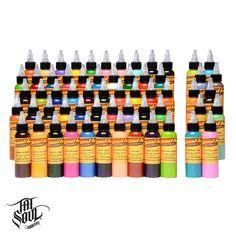 TATSoul Eternal Ink - 4 oz (60 Color Set) [ei-Gold-60-4] -