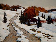 """""""Winter Road,"""" by Min Ma 9 x 12 - acrylic $740 Unframed"""