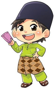 Cartoon Boy Images Doodle Girl Islamic Eid Mubarak