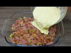 File delicios de pui pe care nu l-ai mai gătit niciodată # 50 - YouTube Meat Recipes, Chicken Recipes, Cooking Recipes, Baked Pork, Yum Yum Chicken, Atkins, Scones, Guacamole, Potato Salad