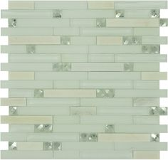 Flicker Tile  Glamour Series, Random Bricks, Super White, Glossy & Frosted, White, Glass and Stone