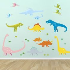 Supertogether Dinosaurs Childrens Wall Stickers Kids Bedroom Playroom Boys Nursery Decals, Multi-Coloured, http://www.amazon.co.uk/dp/B00F0NXFIQ/ref=cm_sw_r_pi_awdl_2awpvb0FMNFJZ