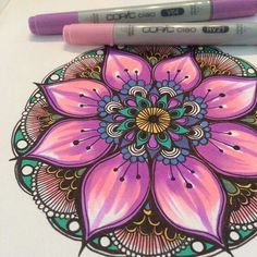 Pin by kp on mandala coloring Mandala Mural, Mandala Drawing, Mandala Tattoo, Zentangle Patterns, Zentangles, Dot Painting, Painting & Drawing, Design Mandala, Mandala Coloring