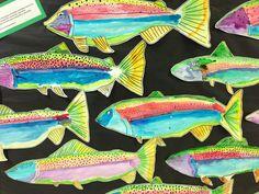 Apex Elementary Art: swimming along