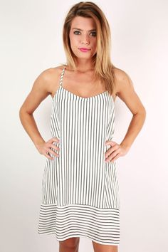 Luxury and beauty meet in this amazing striped dress!