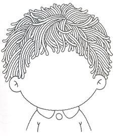 schrijfpatroon haren