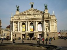 Opera in Lviv, Ukraine--beautiful city in the west with European architectural influences--left a big impression on me