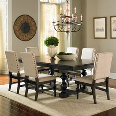 Carmel Dining Set with Buffet/Hutch Dining Chairs & Buffet with Hutch By Adalyn Home Dining Room Hutch, Dinning Room Tables, Dining Decor, Dining Room Sets, Dining Room Design, Dining Room Furniture, Home Furniture, Dining Chairs, Room Chairs