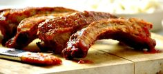 These tasty ribs are known as Costillas in Spain. They are delicious cooked  on a barbecue and almost as good when cooked under a hot grill.