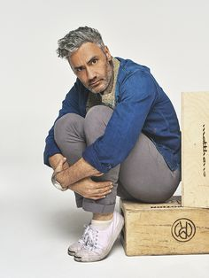 Taika Waititi photographed exclusively for the Variety Playback podcast. Beautiful Men, Beautiful People, Fashion 2020, Mens Fashion, Taika Waititi, Boy Pictures, Interesting Faces, Bridal, Pretty Boys